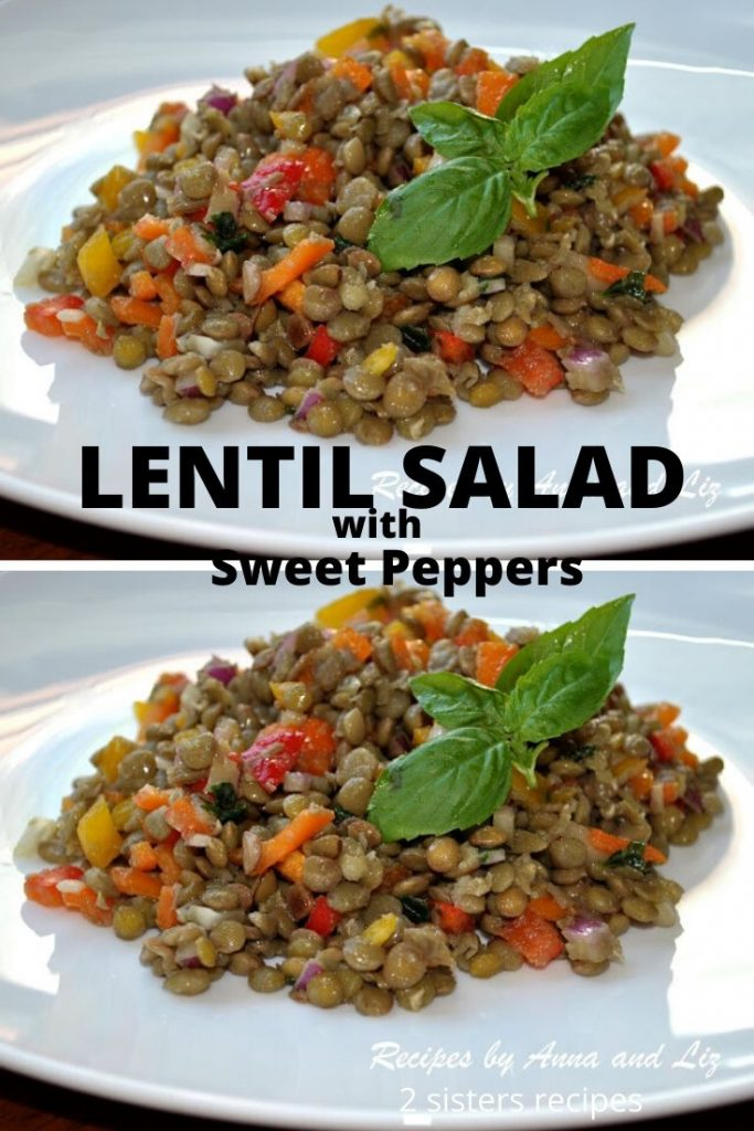 Lentil Salad with Sweet Peppers by 2sistersrecipes.com