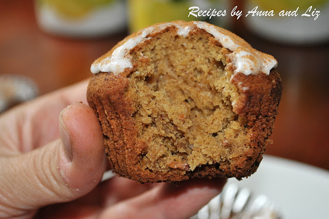 EASY Pumpkin Muffins with Icing