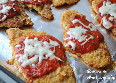 Baked Chicken Parmigiano by 2sistersrecipes.com