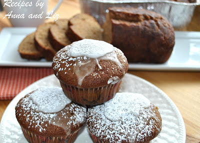 a photo of 3 muffins on a white plate. by 2sistersrecipes.com