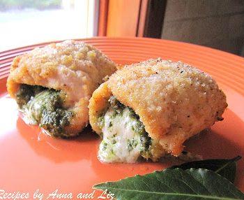 Chicken Rollatini with Pesto and Mozzarella Cheese by 2sistersrecipes.com