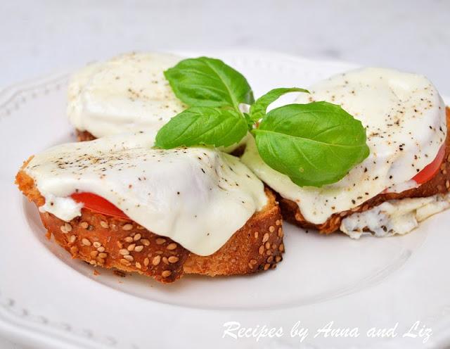 Mini Pizza Bruschetta by 2sistersrecipes.com