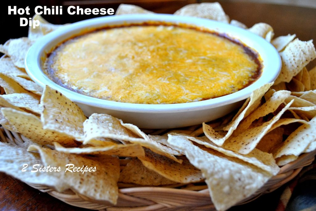 Easy Hot Chili Cheese Dip by 2sistersrecipes.com