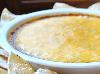 Warm Mexican Dip by 2sistersrecipes.com