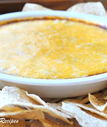 Easy Hot Chili Cheese Dip - Only 3 Layers! by 2sistersrecipes.com