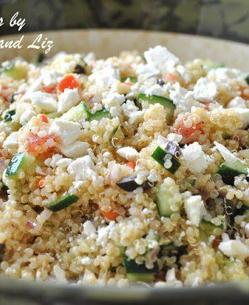 Greek Quinoa Salad by 2sistersrecipes.com
