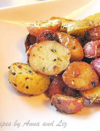 Roasted Baby Red and Yukon Potatoes by 2sistersrecipes.com