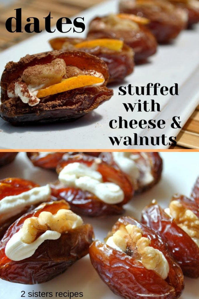 Dates Filled with Mascarpone and Walnuts by 2sistersrecipes.com