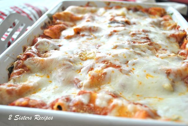 Oven-Roasted Vegetable Lasagna - Lightened! by 2sistersrecipes.com
