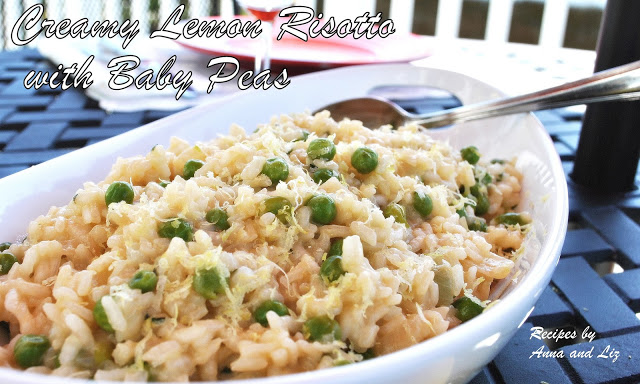 Best Creamy Lemon Risotto with Baby Peas by 2sistersrecipes.com