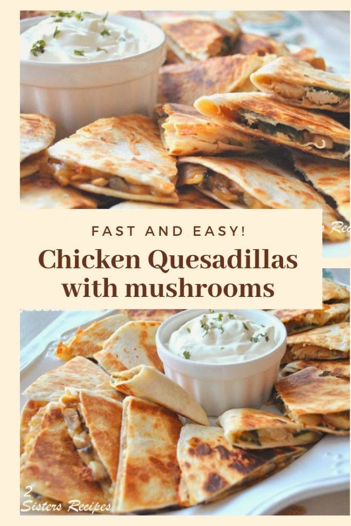 Chicken Quesadillas are loaded with chicken and vegetables including spinach, and canmake a quick mealfor any givennight when you need one! by 2sistersrecipes.com