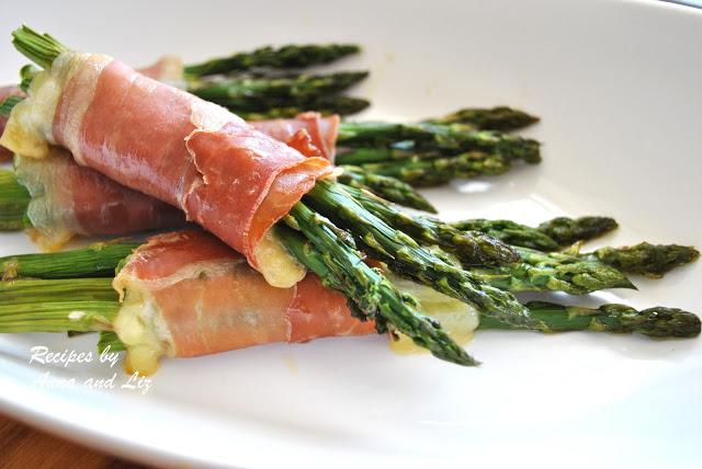 Roasted Asparagus with Prosciutto and Cheese by 2sistersrecipes.com