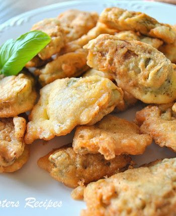 Artichoke Heart Fritters by 2sistersrecipes.com