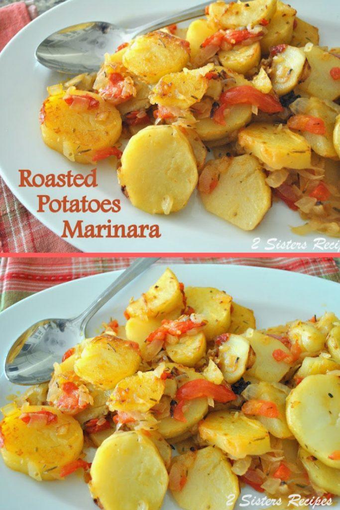 Roasted Potatoes Marinara by 2sistersrecipes.com