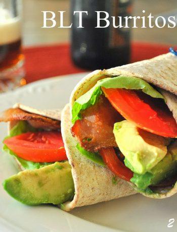 Easy BLT Burritos by 2sistersrecipes.com