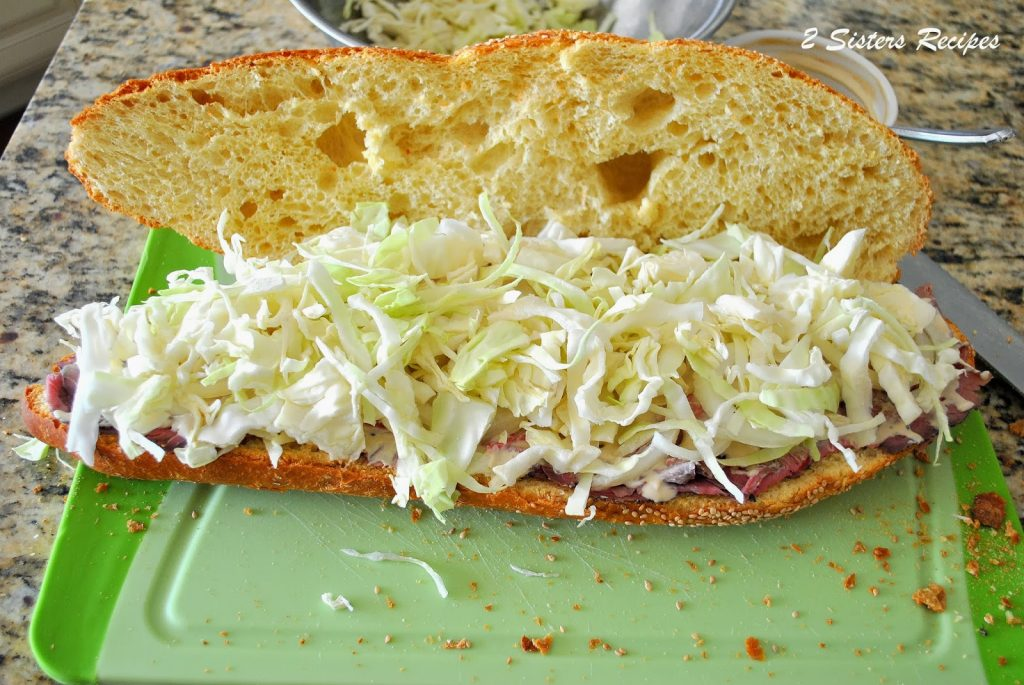Roast-Beef and Corned Beef Sandwiches with Spicy Slaw - 2 ...