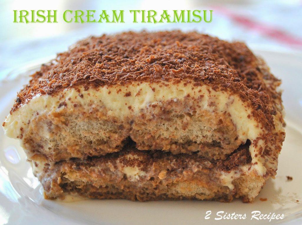 Irish Cream Tiramisu - by 2sistersrecipes.com
