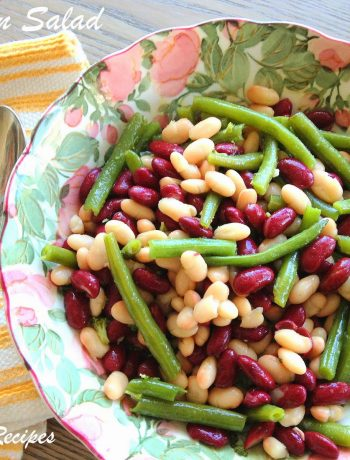 Dad's Three Bean Salad by 2sistersrecipes.com