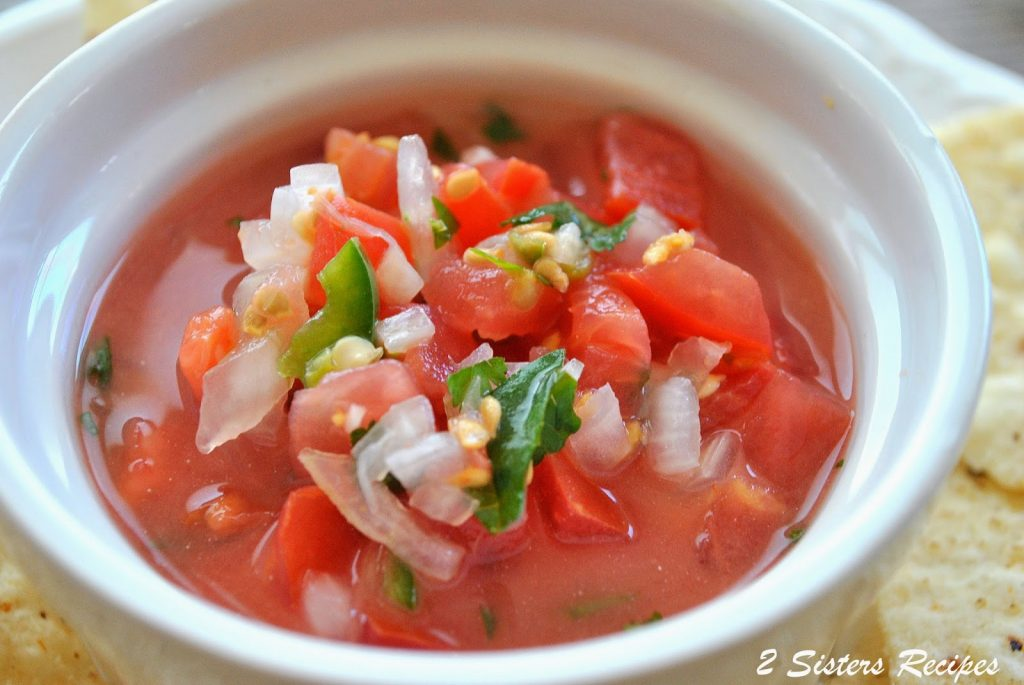 Simple and Easy Spicy Salsa. by 2sistersrecipes.com