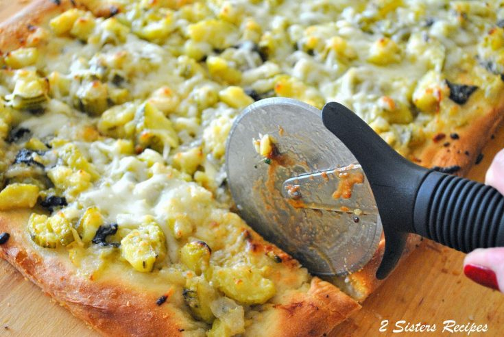 Baked Twice Zucchini and Cheese Pizza Rustica
