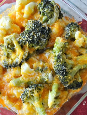 Baked Kale Broccoli Cauliflower Cheddar by 2sistersrecipes.com