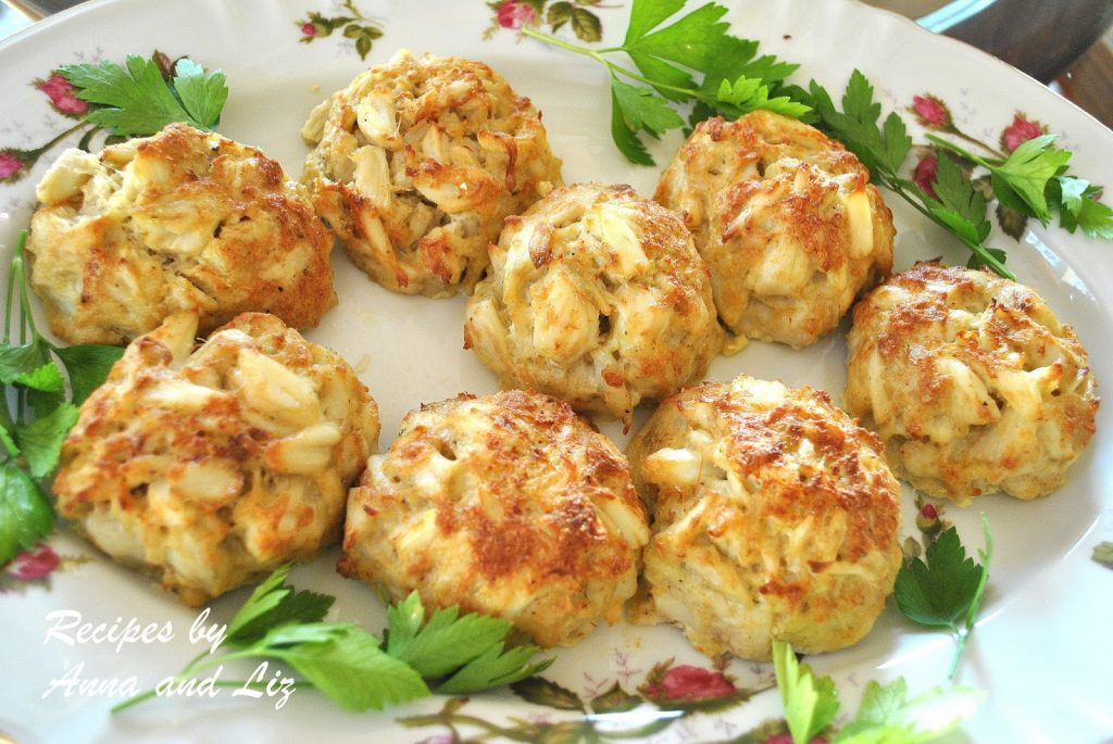 Crab Cakes - Lightened! by 2sistersrecipes.com