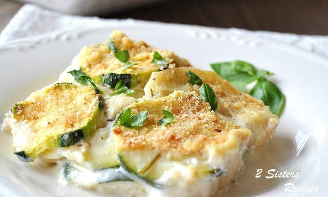 Creamy Potato and Zucchini Au Gratin - Italian Style! by 2sistersrecipes.com