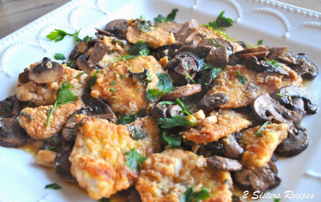 Chicken Marsala with Mushrooms by 2sistersrecipes.com