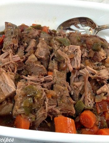 Savory Slow Cooked Beef Brisket in Wine Gravy 2sistersrecipes.com