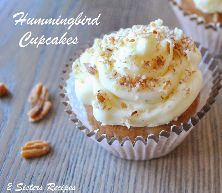 Hummingbird Cupcakes and Christmas, by 2sistersrecipes.com