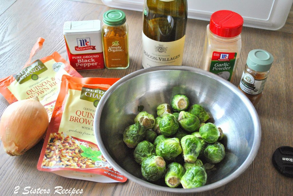Sauteed Brussels Sprout with Quinoa by 2sistersrecipes.com
