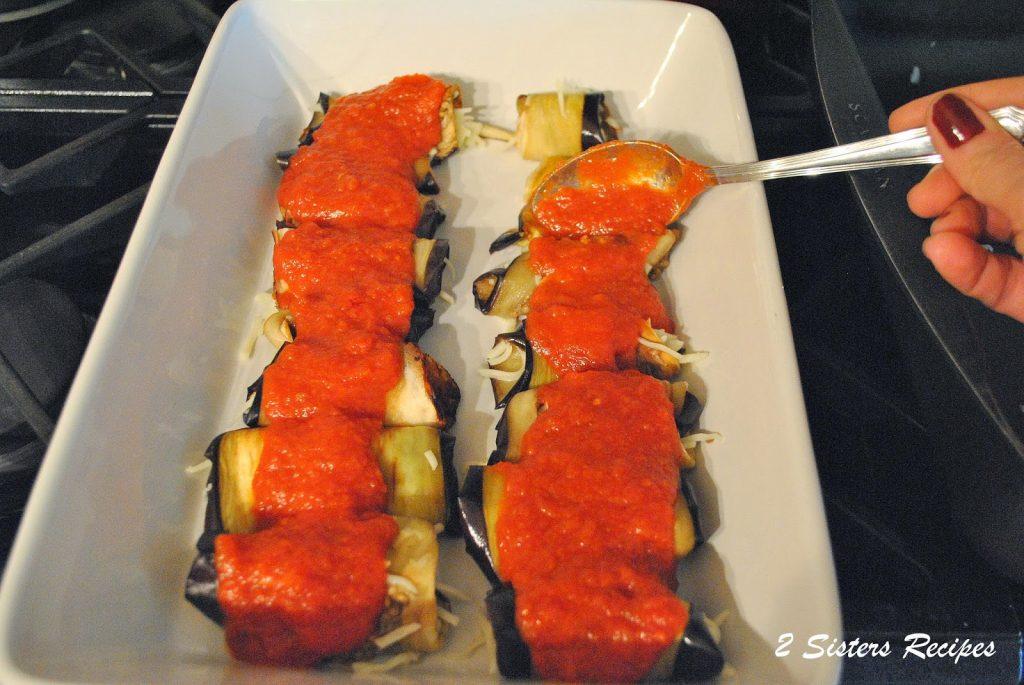 Eggplant Rollatini - Lightened! by 2sistersrecipes.com