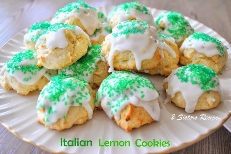 Italian Lemon Cookies for St. Patrick's Day