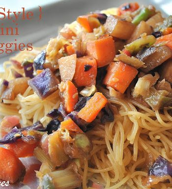 Asian-Style Capellini with Vegetables by 2sistersrecipes.com
