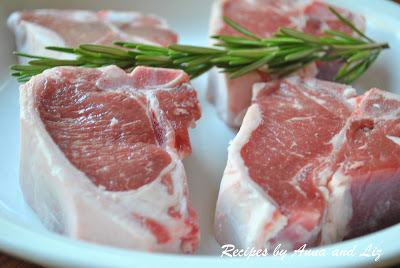 Photo of raw lamb chops by 2sistersrecipes.com
