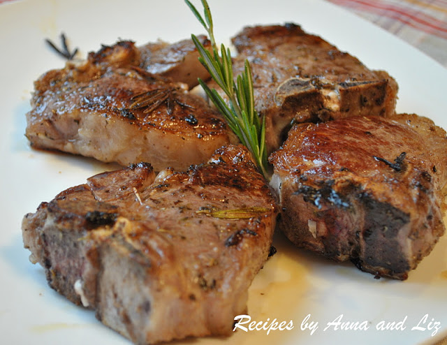 Grilled Lamb Chops with Garlic, Lemon, Wine and Herbs - 2 ...