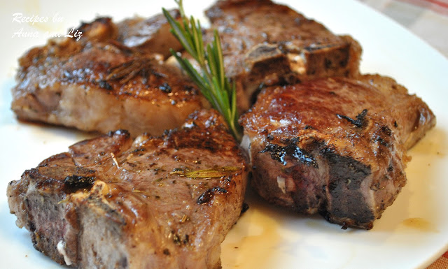 Grilled Lamb Chops with Garlic Lemon Wine, by 2sistersrecipes.com