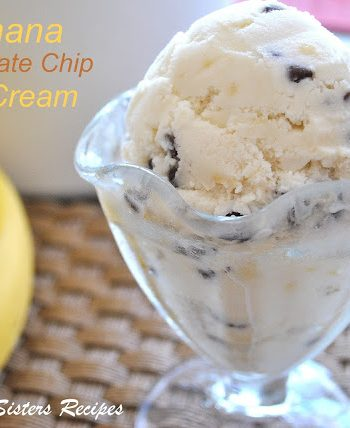 Banana Chocolate Chip Ice Cream -only 5 ingredients!by 2sistersrecipes.com