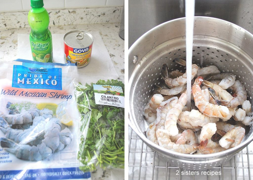 Ingredients for the shrimp cocktail by 2sistersrecipes.com