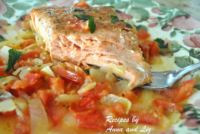 Pan-Seared Salmon with Zesty Tomato-Onion Relish