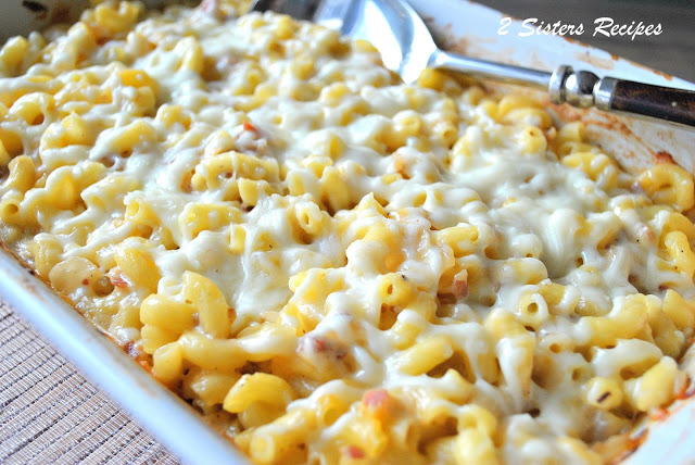 Macaroni and Cheese with Pancetta and Caramelized Onions by 2sistersrecipes.com