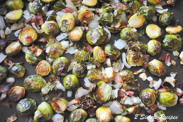 Roasted Brussels Sprouts with Bacon and Parmesan Cheese