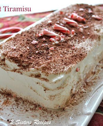 Easy Peppermint Tiramisu! http://2sistersrecipes.com