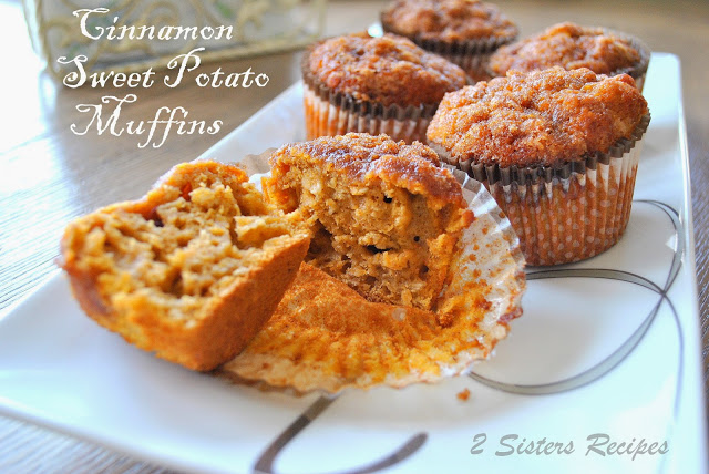 10 Most Popular Recipes, Cinnamon Sweet Potato Muffins by 2sistersrecipes.com