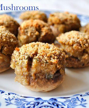 Easy Stuffed Mushrooms by 2sistersrecipes.com