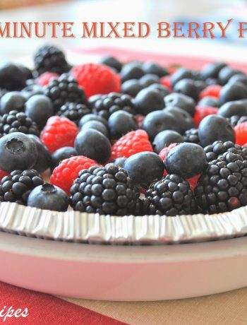 5-Minute Mixed Berry Pie by 2sistersrecipes.com