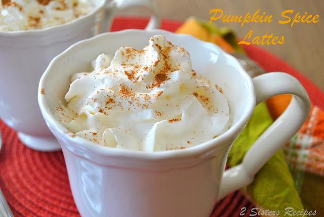 Pumpkin Spice Lattes Lightened by 2sistersrecipes.com