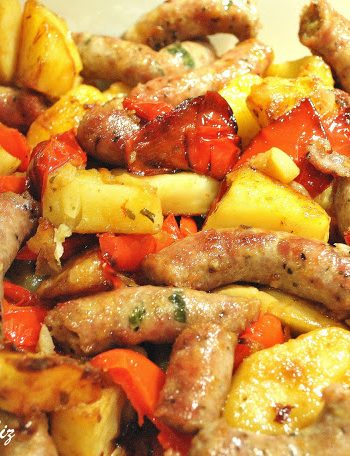 Oven-Baked Sweet Thin Sausages , by 2sistersrecipes.com