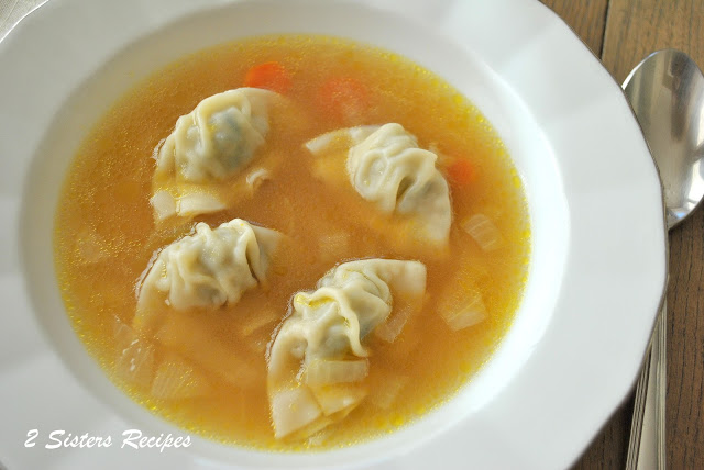 Chicken Wonton Soup, by 2sistersrecipes.com