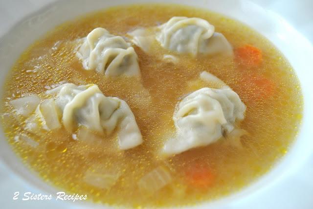 Chicken Wonton Soup by 2sistersrecipes.com